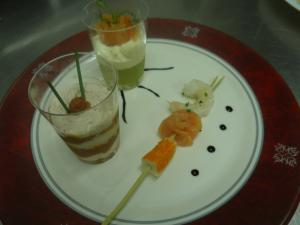 Assiette apéritif dinatoire